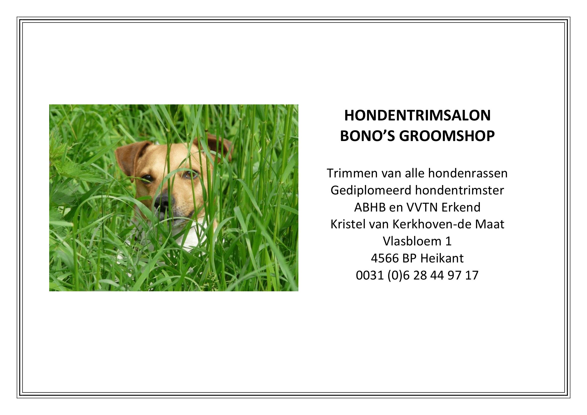 Bono's groomshop